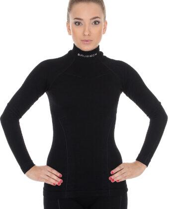 Bluza termoaktywna damska EXTREME WOOL BRUBECK® czarna