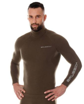 Bluza termoaktywna męska RANGER WOOL BRUBECK® khaki