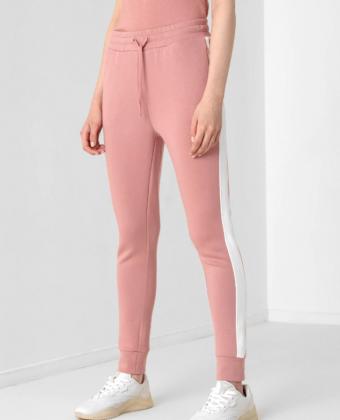 Spodnie dresowe damskie 4F SPDD013 różowe