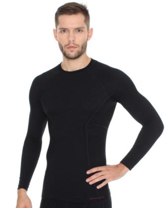 Bluza termoaktywna męska ACTIVE WOOL BRUBECK® czarna