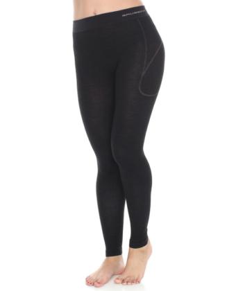 Spodnie damskie z wełną merino BRUBECK® ACTIVE WOOL czarne